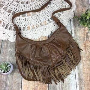 Vintage | Fringe Leather Western Boho Purse